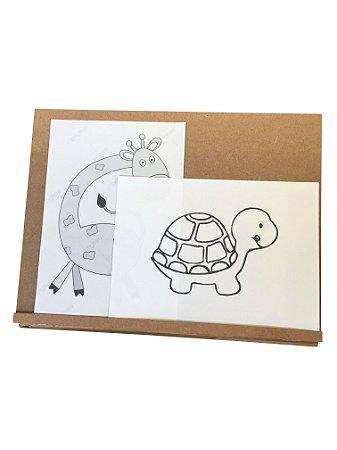 Prancheta inclinável montessoriana - para leitura e desenho A3