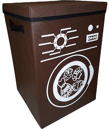 Cesto de roupa suja dobrável - estampado