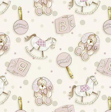 TECIDO FUXICOS E FRICOTES COLEÇÃO BABY DIGITAL - BRINQUEDOS BABY ROSA - PREÇO DE 0,50 X 1,50
