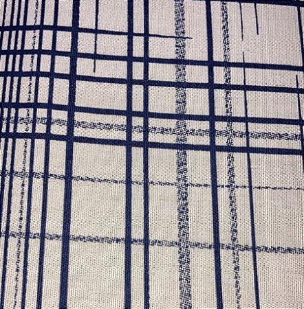 TECIDO 100% ALGODÃO PATCH BRASIL - XADREZ MARINHO FUNDO BEGE - PREÇO DE 0,50 x 1,50MT