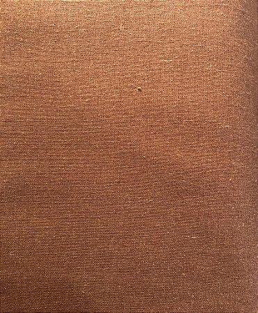TECIDO LINHO LISO- COR MARROM- PREÇO DE 0.50 x 1,50