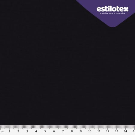 TECIDO 100% ALGODÃO ANTIVIRAL ESTILOTEX LISO PRETO - PREÇO 0,50M X 1,48M