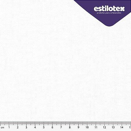 TECIDO 100% ALGODÃO  ANTIVIRAL ESTILOTEX LISO BRANCO - PREÇO 0,50M X 1,48M