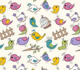 TECIDO 100% ALGODÃO FABRICART- FOFURICES-  MINI BIRDS CREME- PREÇO DE 0.50 x 1,50