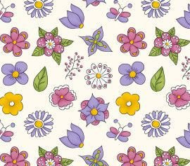 TECIDO 100% ALGODÃO FABRICART- FOFURICES-  MINI FLOWER CREME- PREÇO DE 0.50 x 1,50