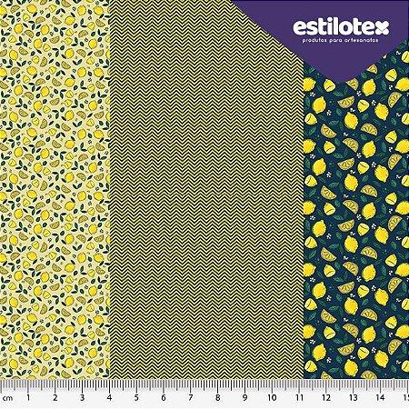 TECIDO 100% ALGODÃO ESTILOTEX SICILIANO - PREÇO 0,50M X 1,48M