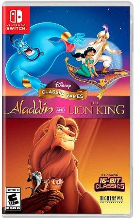 Disney Classic Games: Aladdin + O Rei Leão - SWITCH - Usado [EUA]