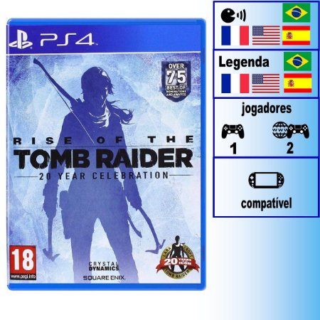 Rise of the Tomb Raider 20 Years Celebration - PS4 - Novo