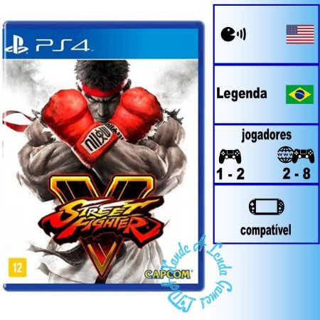 Street Fighter V - PS4 - Novo