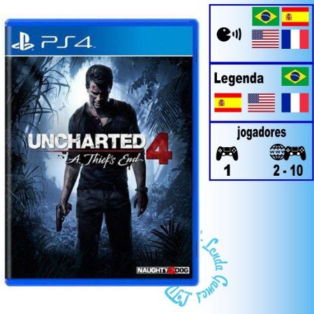 Uncharted 4 A Thief's End - PS4 - Novo