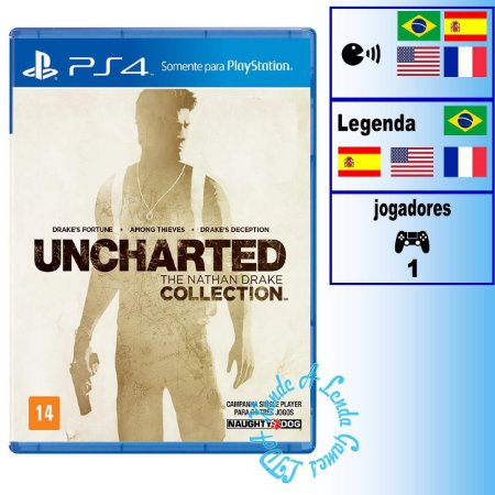 Uncharted The Nathan Drake Collection - PS4 - Novo