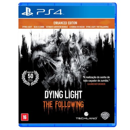 Dying Light the Following Enhanced Edition - PS4 - Usado