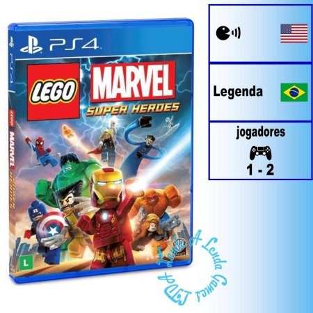 Lego Marvel Super Heroes - PS4 - Novo