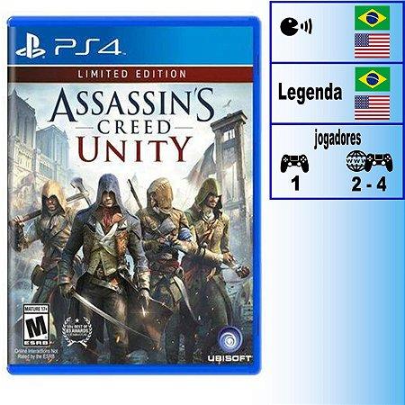 Assassin's Creed Unity Edição Limitada - PS4 - Novo