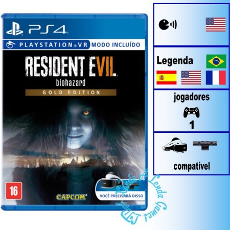 Resident Evil 7 Biohazard Gold Edition - PS4 - Novo