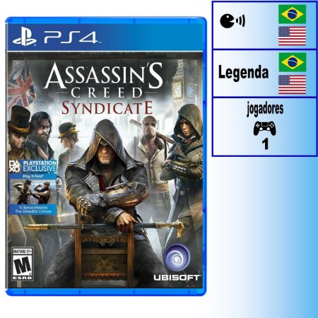 Assassin's Creed Syndicate - PS4 - Novo