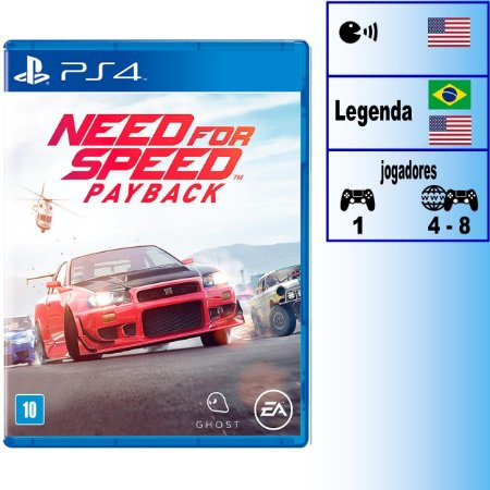 Need For Speed Payback - PS4 - Novo