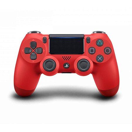 Controle Dualshock 4 - PS4 - Novo - Vermelho