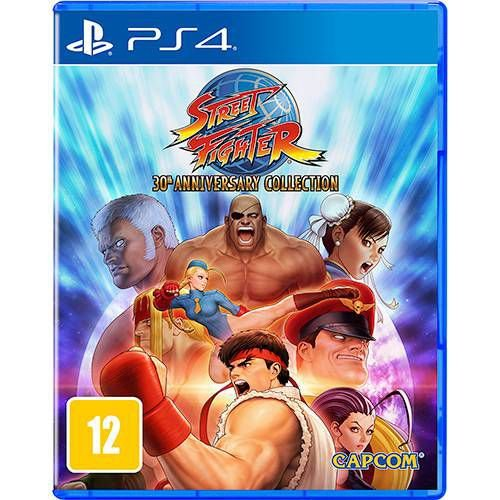 Street Fighter 30th Anniversary Collection - PS4 - Novo