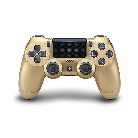 Controle Dualshock 4 - PS4 - Novo - Dourado (Gold)