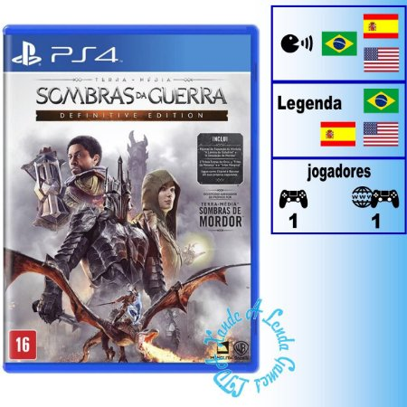 Terra Média: Sombras da Guerra Definitive Edition - PS4 - Novo