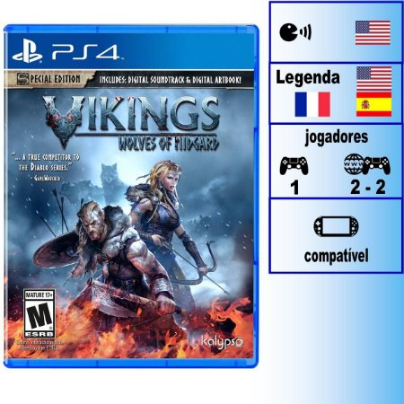 Vikings Wolves of Midgard Special Edition - PS4 - Novo