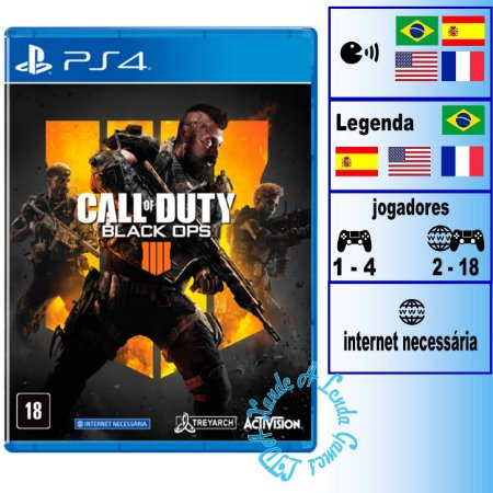 Call of Duty Black Ops 4 - PS4 - Novo