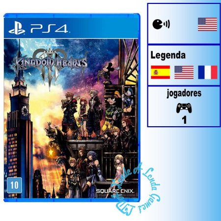 Kingdom Hearts III - PS4 - Novo