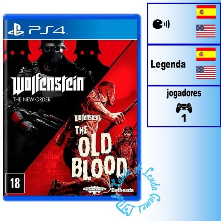 Wolfenstein The Two Pack - PS4 - Novo