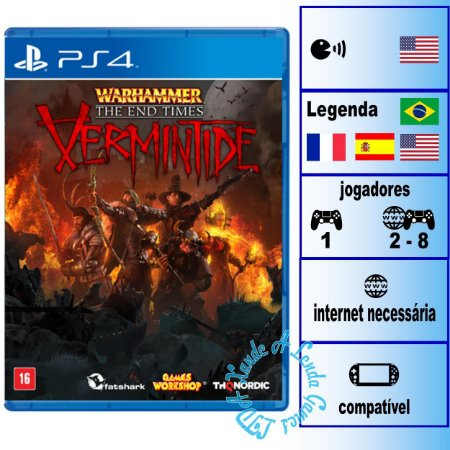 Warhammer The End Times Vermintide - PS4 - Novo