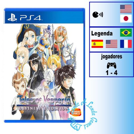 Tales of Vesperia Definitive Edition - PS4 - Novo