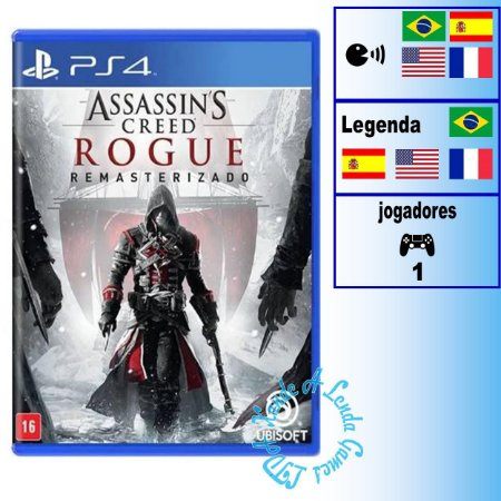 Assassin's Creed Rogue Remasterizado - PS4 - Novo