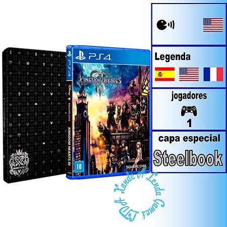 Kingdom Hearts III Steelbook Edition - PS4 - Novo