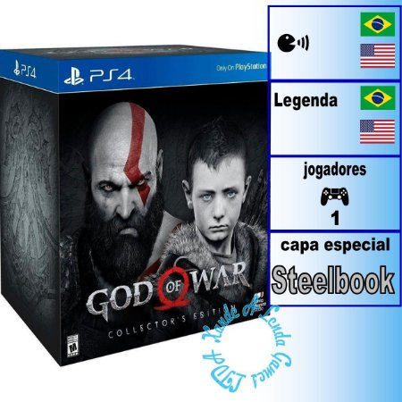 God of War Collector's Edition - PS4 - Novo
