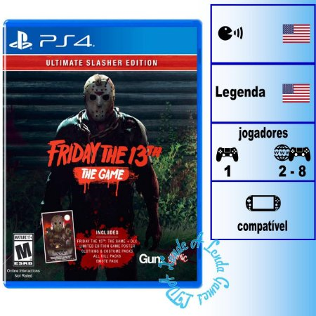 Friday The 13th The Game Ultimate Slasher Edition - PS4 - Novo