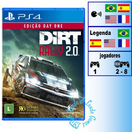 Dirt Rally 2.0 Day One Edition - PS4 - Novo