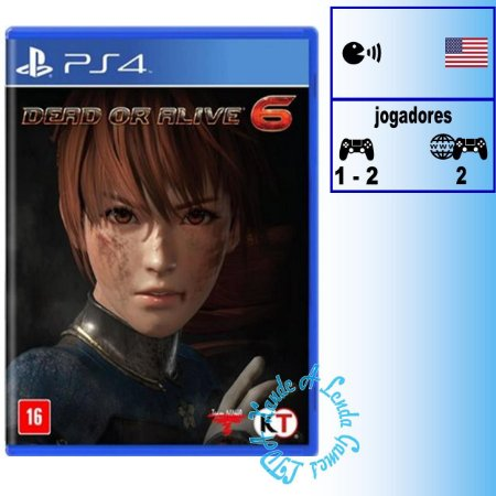 Dead or Alive 6 - PS4 - Novo