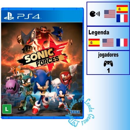 Sonic Forces - PS4 - Novo