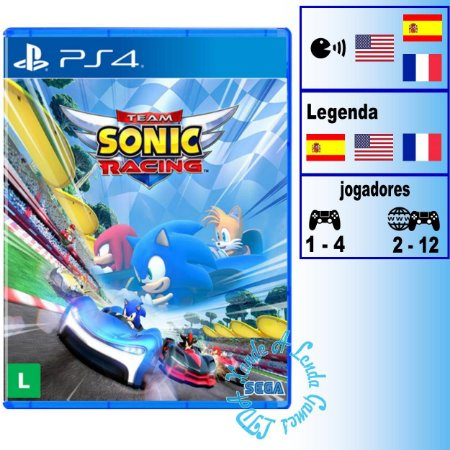 Team Sonic Racing - PS4 - Novo