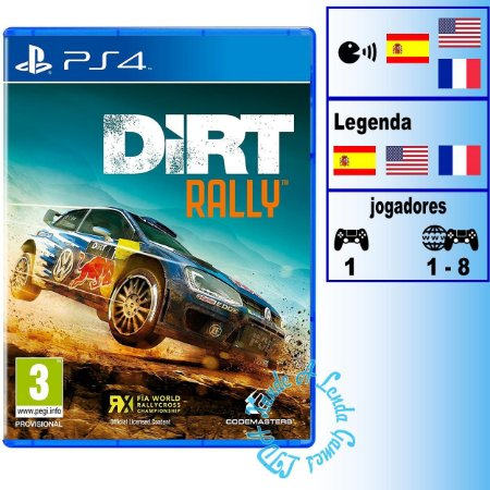 Dirt Rally - PS4 - Novo