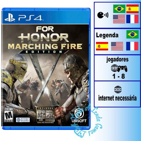 For Honor Marching Fire Edition - PS4 - Novo