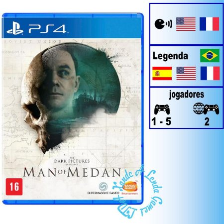 The Dark Pictures Man of Medan - PS4 - Novo