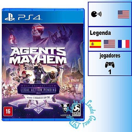 Agents of Mayhem Day One Edition - PS4 - Novo
