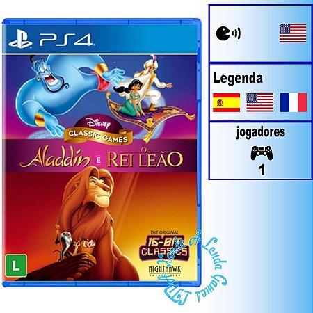 Disney Classic Games: Aladdin + Rei Leão - PS4 - Novo