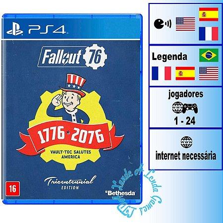 Fallout 76 Edição Tricentenária - PS4 - Novo