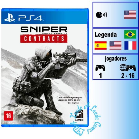 Sniper Ghost Warrior Contracts - PS4 - Novo