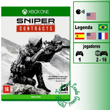 Sniper Ghost Warrior Contracts - XBOX ONE - Novo