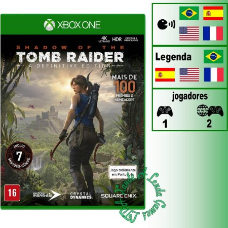 Shadow of the Tomb Raider Definitive Edition - XBOX ONE - Novo