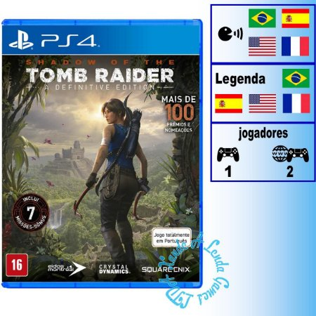 Shadow of the Tomb Raider A Definitive Edition - PS4 - Novo