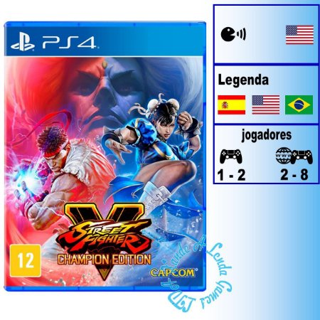 Street Fighter V Champion Edition - PS4 - Novo